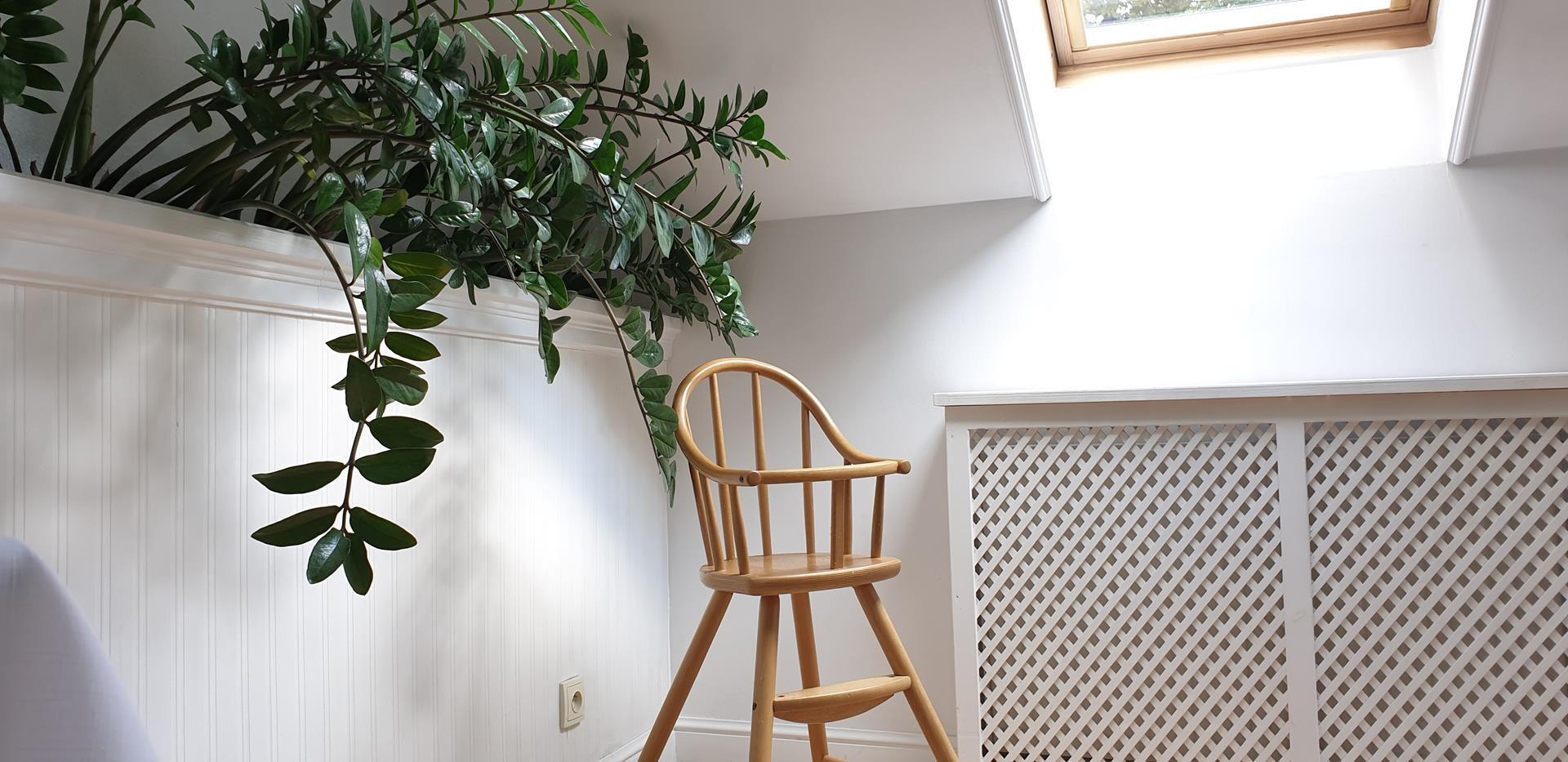 krzesełko dziecięce w hotelu zorza
